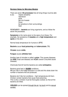 Microbes revision sheet