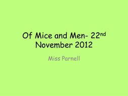 Of Mice and Men- George's feelings