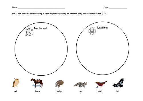 Venn diagram sorting animals ks1 diagram animals venn diagrams by katharine7 teaching resources tes ccuart Images