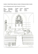 Church Interior Sheet