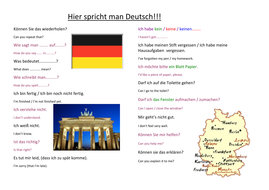 Classroom Language Placemat