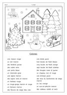 Christmas vocabulary & colors