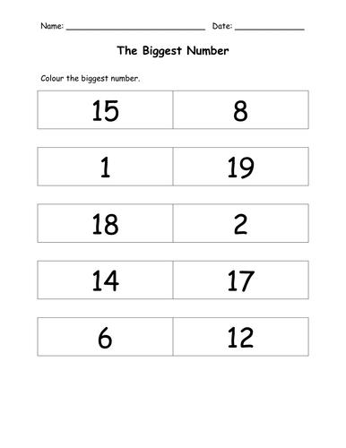Number Worksheets by amyvanderhyde - Teaching Resources - TES