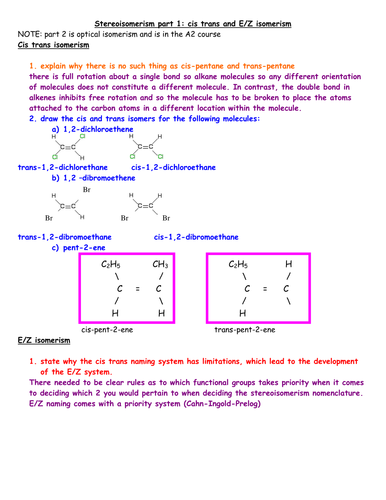 AS stereoisomerism lesson