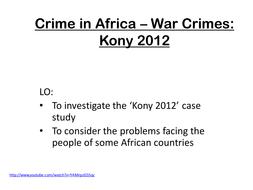 Crime in Africa - War Crime