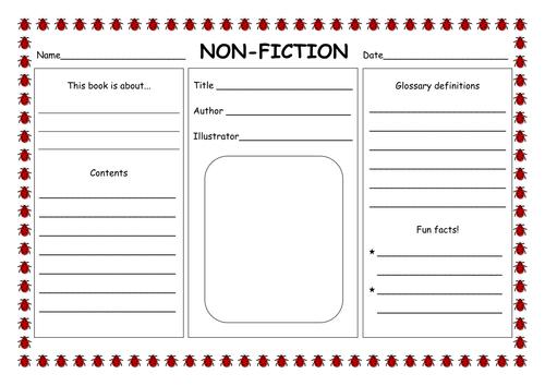 Fiction NonFiction PowerPoint by hannahelizabethg Teaching – Nonfiction Text Features Worksheet